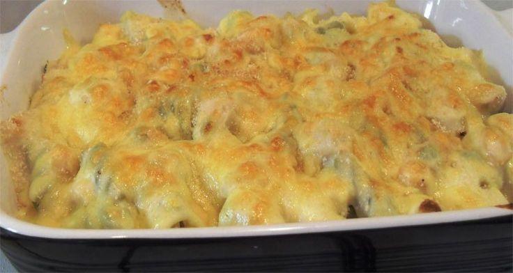 Bagt pasta med kylling, bacon og porre - Overlev på SU