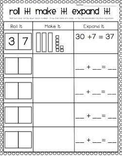 FREE ~ place value practice for deeper understanding of  2 digit addition ~ roll