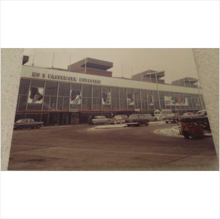 London HEATHROW Airport 1960s postcard aerial Terminal 3 Oceanic Building