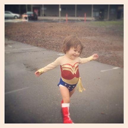 Gigi's homemade Wonder Woman costume!