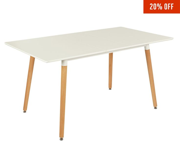 Buy Hygena Charlie Extendable 4 - 6 Seater Dining Table - White at Argos.co.uk, visit Argos.co.uk to shop online for null