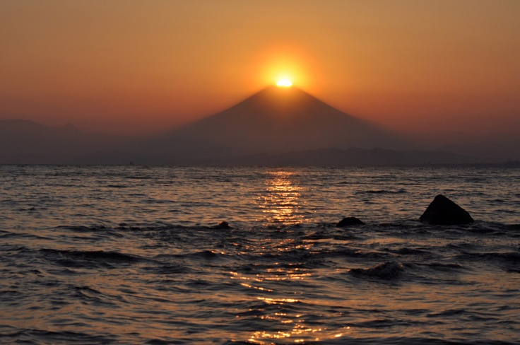 江ノ島よりダイヤモンド富士