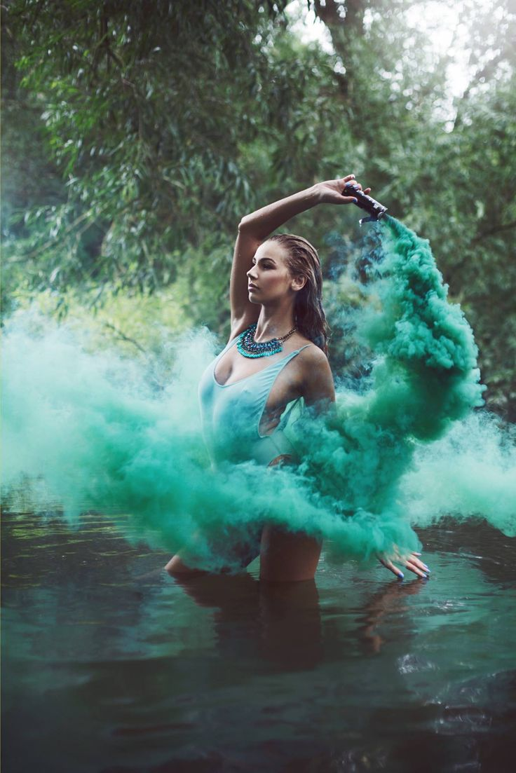 фото с цветным дымом идеи даже