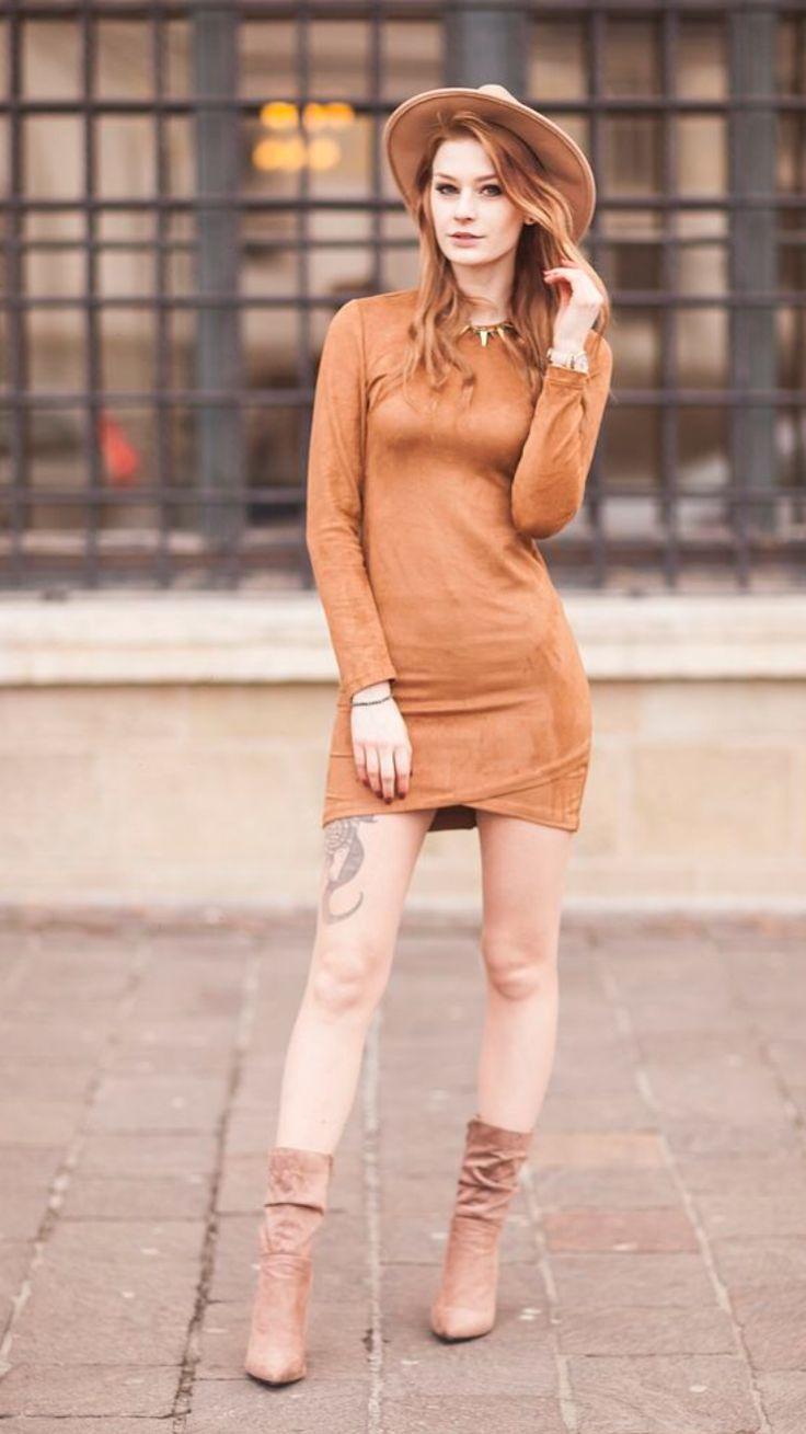 """Beige dress -  As first seen on blog """" Mademoiselle Kate """" here: Beige dress  She is wearing hosiery similar here: Ultra Sheer Hosiery With the shades to match your natural skin tone these ultra-sheer hosiery suits every occasion. Plus the added sandalfoot increases your footwear options!  #tights #pantyhose #hosiery #nylons #tightslover #pantyhoselover #nylonlover #legs"""