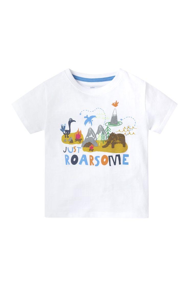 White Just Roarsome Print T-Shirt