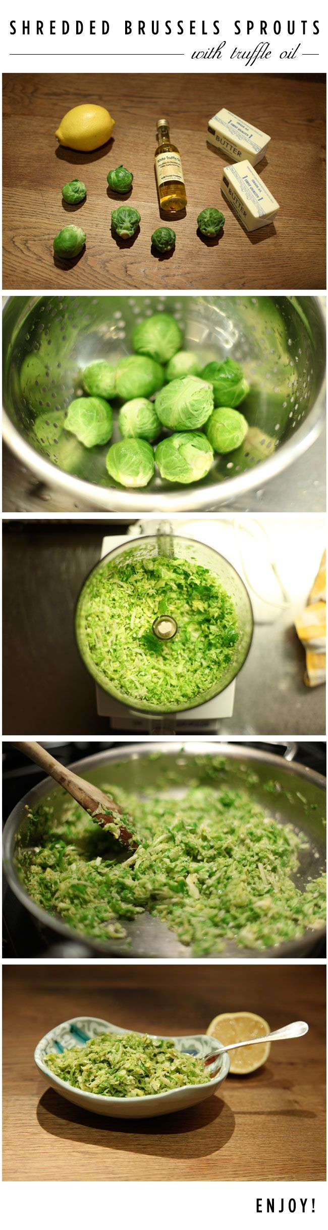 Nanette Lepore Shredded Brussels Sprouts with Truffle Oil - Favorite ...