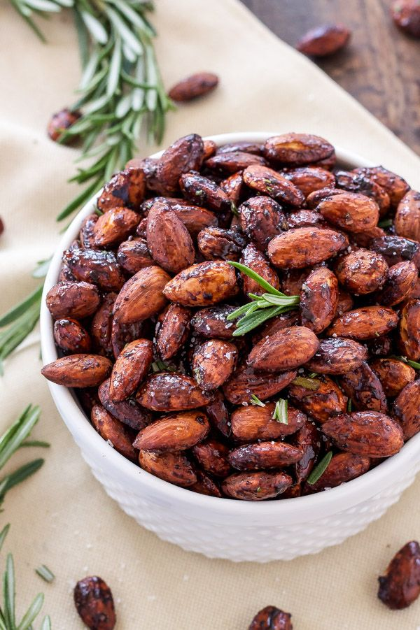 Rosemary and Chili Roasted Almonds   Sweet, salty, slightly spicy roasted almonds that are perfect for snacking!   www.reciperunner.com