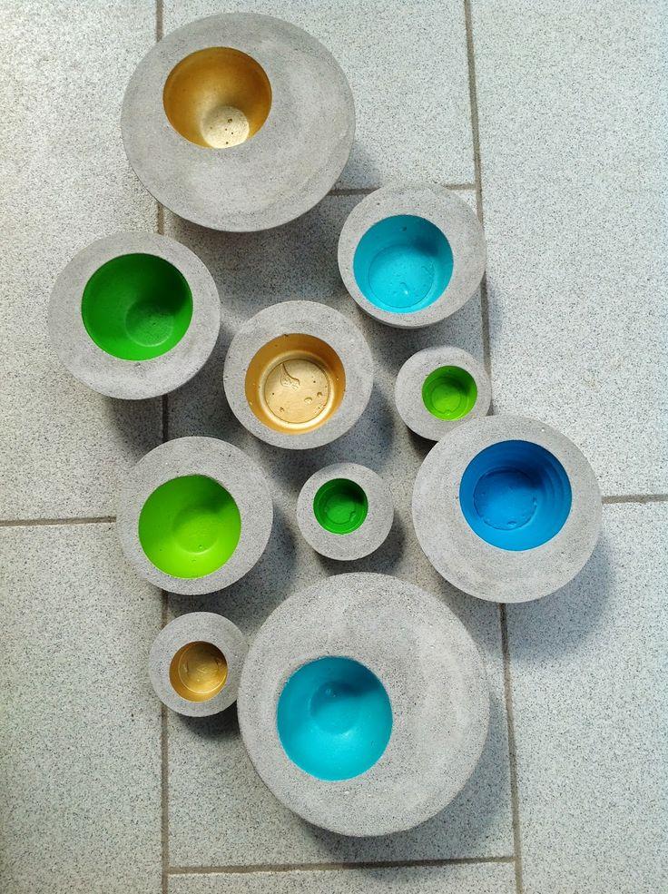 169 besten beton bilder auf pinterest bastelarbeiten basteln mit beton und beton gie en. Black Bedroom Furniture Sets. Home Design Ideas