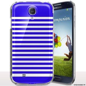 Coque rigide pour téléphone Samsung S4 Mini Rayures Bleu. #Coque #rayures #bleu #s4 #Mini #i9195 #cover #case