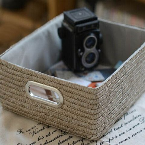 Straw Storage Box - Pefect for storing accessories, newspapers and periodicals, cosmetics, jewelry, toys, coins and more others