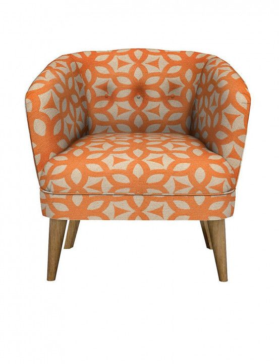 Orange And White Accent Chairs   Best Furniture Gallery