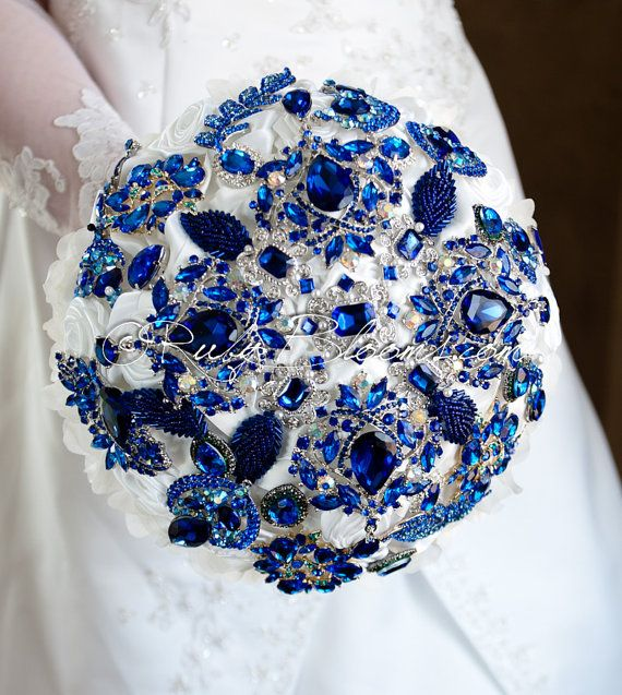 Hey, I found this really awesome Etsy listing at https://www.etsy.com/listing/184193489/royal-blue-wedding-brooch-bouquet