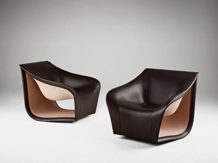 Split sofa and chairs alex hull Inspired by the Movement of the Waves: Split Leather Sofa