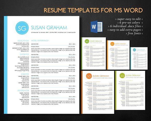 2 in 1 left bar circle Word resume by Inkpower on @creativemarket - avionics test engineer sample resume