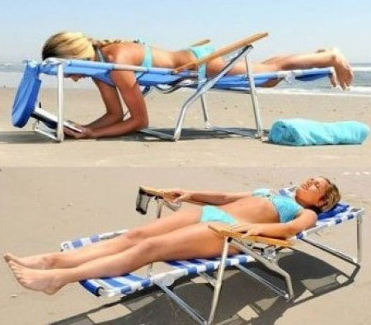Ostrich 3-in-1 beach chair. These have terrible reviews but there has to be another face-down lounger out there... right?!