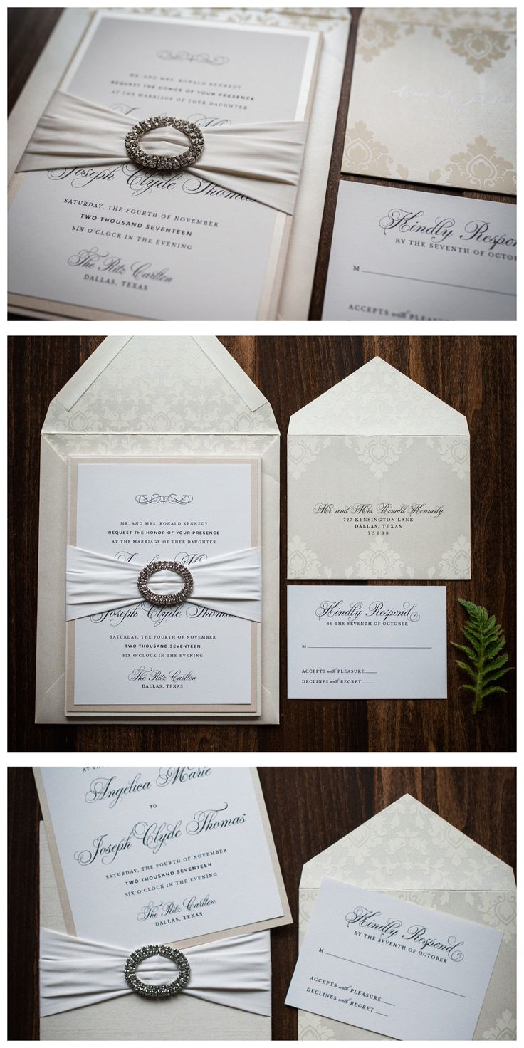 luxury wedding invitations dallas%0A Fabric Wedding Invitation with ribbon and crystals by Penn  u     Paperie  Luxury  Boxed Wedding Invitation