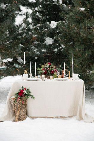 Свадьба в деталях: ели и еловые ветки - The-wedding.ru