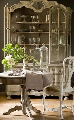 French Country Dining -- I probably pinned this before.  Looks like something I would repin over and over...