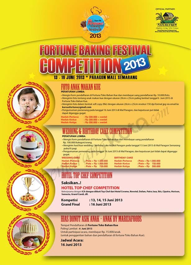 Fortune Baking Festival Competititon 2013 #Semarang, Foto Anak Makan Kue, #Wedding & #Birthday Cake Competition, Hotel Top Chef #Competition, Hias Donut Asik Anak - Anak