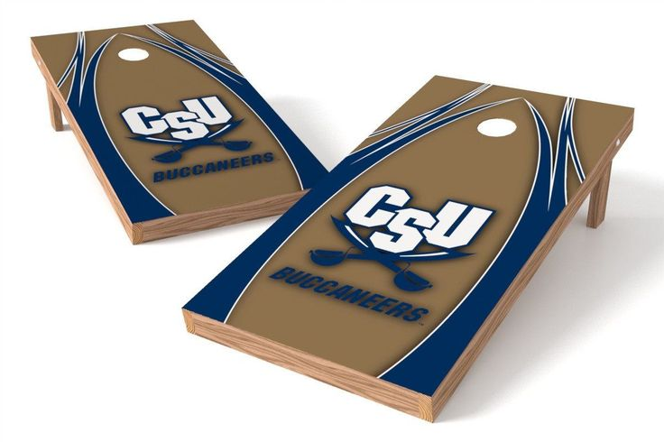 Charleston Southern Buccaneers Cornhole Board Set - The Edge (w/Bluetooth Speakers)