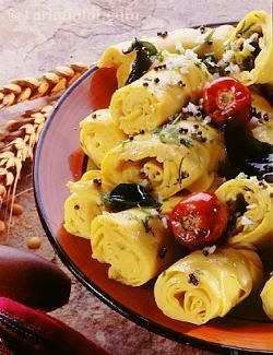Khandvi is a popular snack amongst gujaratis, especially the kids!