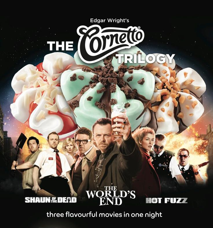 The Cornetto Trilogy! August 22nd @ AMC Theaters : Shaun of the Dead,  Hot Fuzz & The World's End