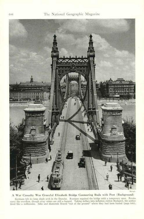 Elisabeth Bridge, Budapest, 1945