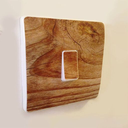 Wooden light switch fitting