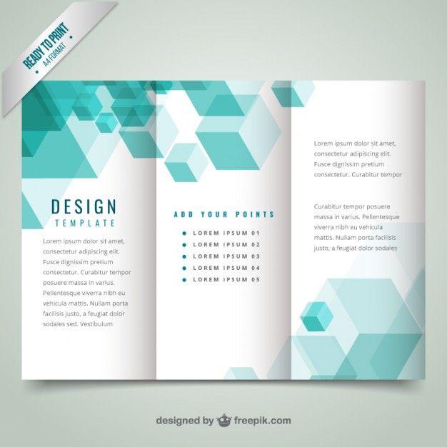 Geometric modern brochure template Free Vector