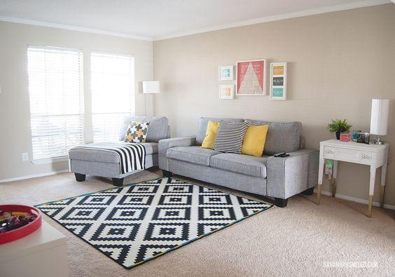 25 beste idee n over zwart wit tapijt op pinterest zwart witte kamers woonkamerstijlen en - Ikea tapijt salon ...