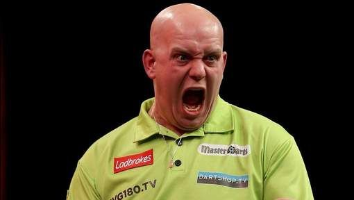 Micheal van Gerwen is the world's best darts player. Last year he won every major title. he was unbeaten for more than one and a half year. He actually is that mighty.