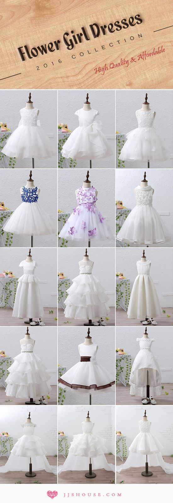 Flower Girl Dresses 2016 Collection High Quality & Affordable #Flowergirldress