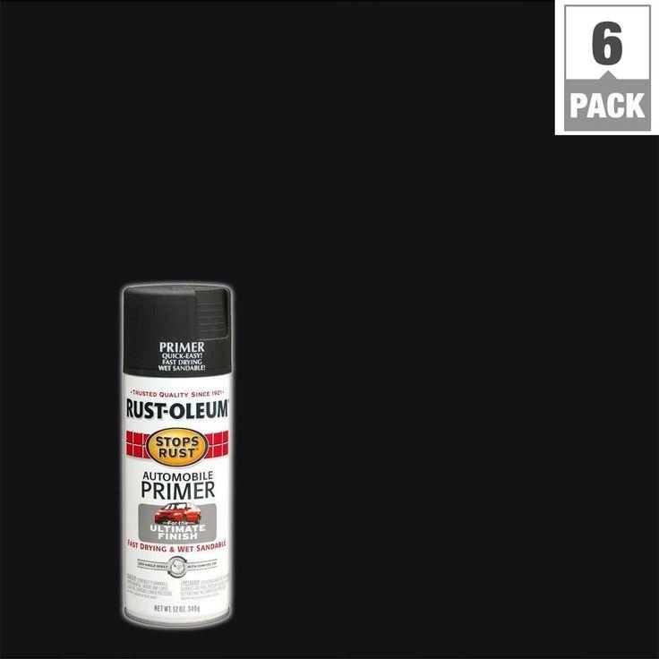 Rust-Oleum Stops Rust 12 oz. Matte Dark Gray Automotive Primer Spray Paint (6-Pack)