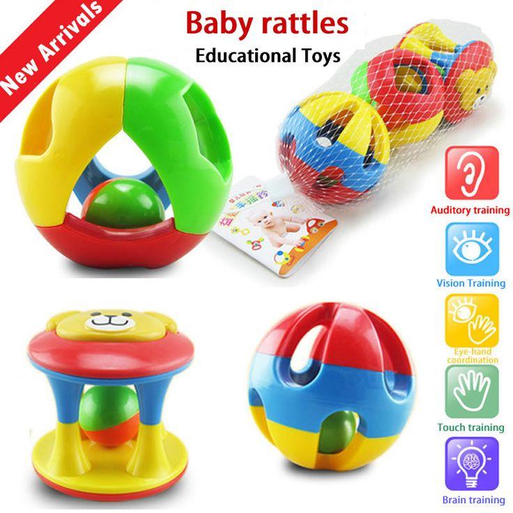 赤ちゃんrattlesfunリトル大声ベルボールリングジングル開発赤ちゃんintelligencetraining把持能力のおもちゃ