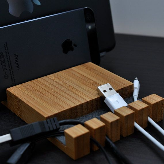 16 best images about wooden dock charging station on Charger cord organizer diy