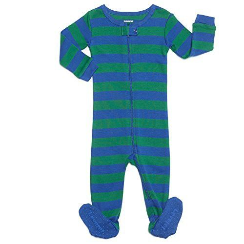 891a3ffdebe1 Leveret Striped Footed Pajama Sleeper 100% Cotton (6-12 Months