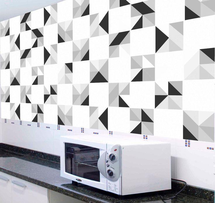 Armario Jose ~ adesivo azulejo preto e branco Pesquisa Google Cozinha