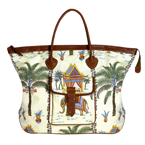 Beautiful Jim Thompson Fabric Ferry Weekend Bag by Zink Brand at www.zinkstore.com