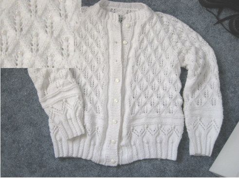 free pattern written in English )Dewdrop FernLace Cardigan  #afs collection