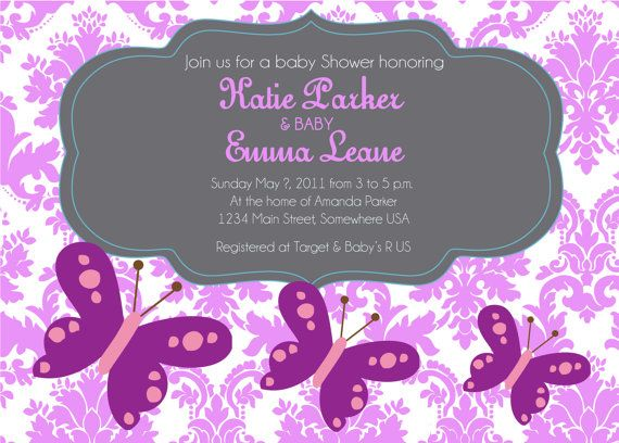 Butterfly Baby Shower Birthday Printable by MakinMemoriesOnPaper
