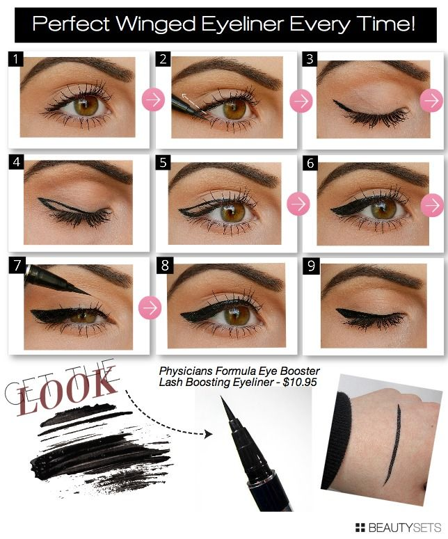 Perfect Winged Eyeliner Every Time! - http://www.beautysets.com/sets/12115 - Looks Eyes