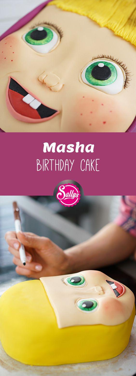 Meine Tochter Ela ist der totale Mascha und der Bär Fan und daher habe ich ihr eine Geburtstagstorte anlässlich des Themas Masha and the Bear gebacken.  #masha