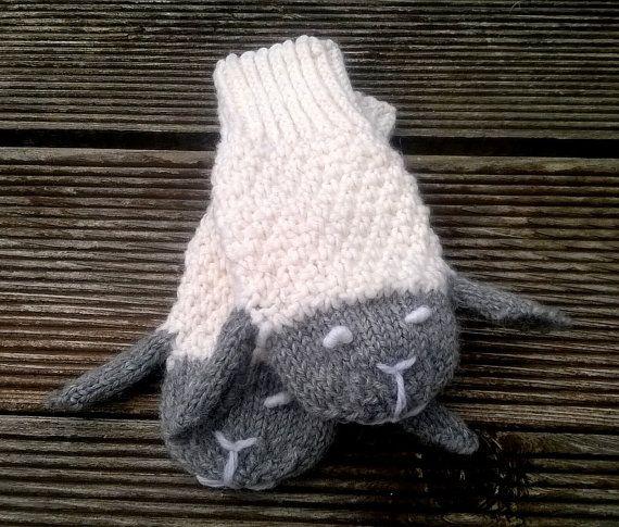 Animals Gloves/ Sheeps Mittens/ Kids Gloves/ by NataNatastudio