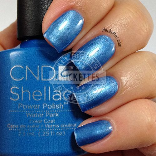 CND Shellac Garden Muse Collection - Water Park - swatch by Chickettes.com