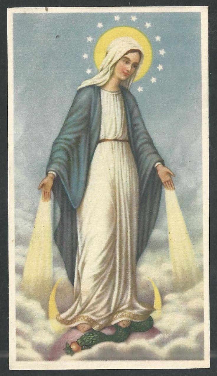 ESTAMPA antigua de la Virgen Milagrosa andachtsbild santino holy card santini - EUR 3,00. estampa antigua de la Virgen Milagrosa . 371898715788