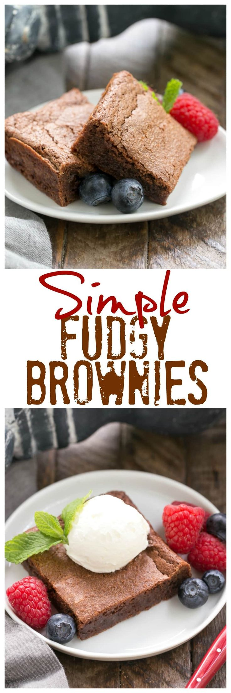 Simple Fudgy Brownies | An unusual technique to make the fudgiest brownies ever! @lizzydo