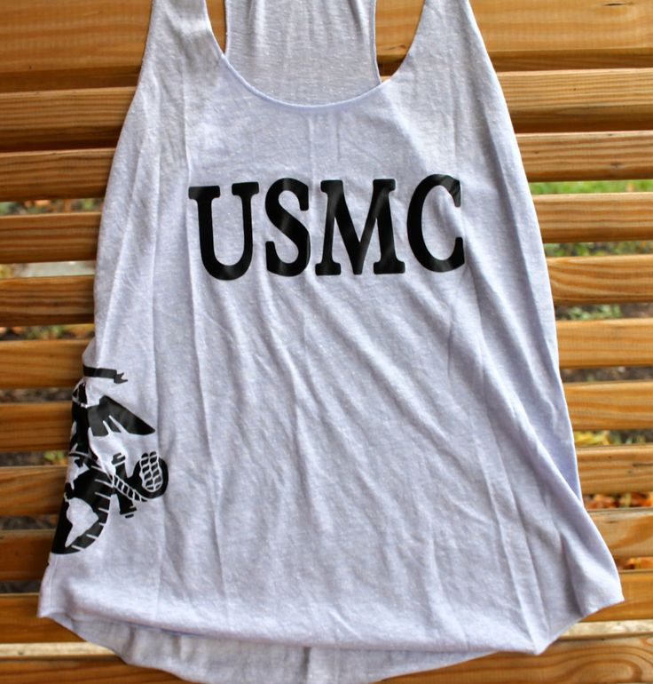 Marine Corps girlfriend usmc tank top by AmyJaneBeauty on Etsy