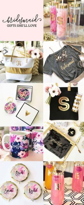 Bridesmaid Gift Ideas - Bridal Party Gifts - Bridesmaid Tote Bag Bridesmaid Card - Bridesmaid Shirts - Bridesmaid Jewelry - Bridesmaid Robes and more! by Weddingfavorites