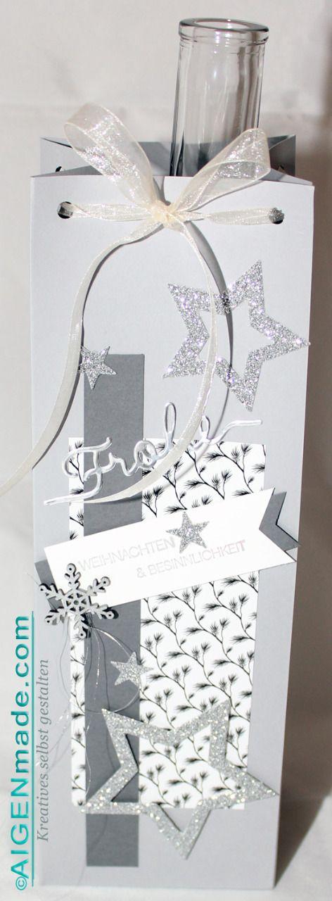 Geschenkstüten   Verpackungen für Flaschen  Aigenmade.com #Stampin'UP!