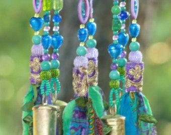 Ventana suncatcher colorido sol catcher-turquesa-campanas de viento al aire libre jardín carillones de viento-granos suncatcher-jardín pequeñas campanas de viento viento chime